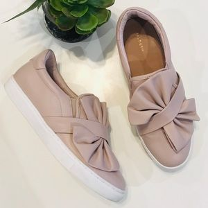 Halogen Blush Pink Bow Slip On Flats Shoes